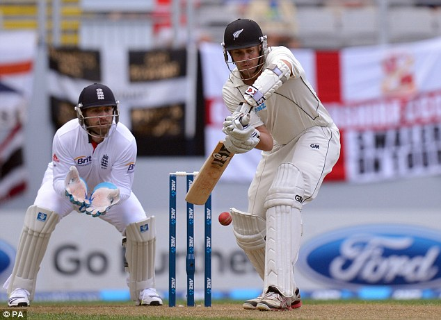 Man of the hour: Peter Fulton made his maiden Test century on day one at Eden Park