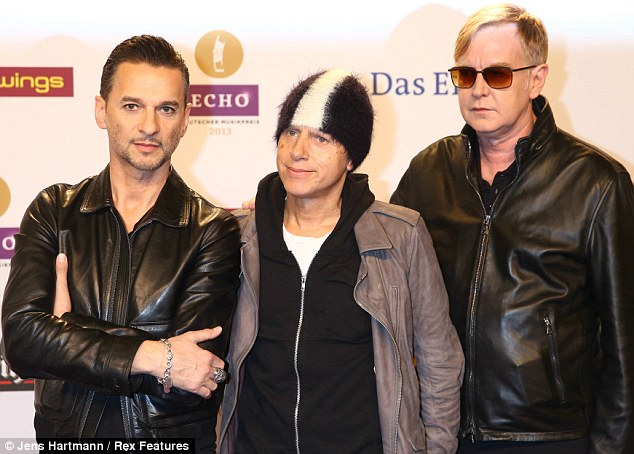 Depeche Mode still don't coordinate their outfits... even for awards ceremonies