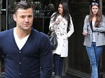 Three's a crowd: Mark Wright picks up Michelle Keegan from work for lunch date... and co-star Brooke Vincent tags along too