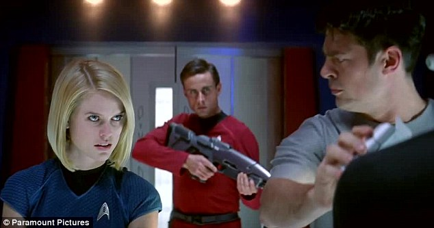 Can I help you doctor? It seems she impinges on Dr McCoy's territory as she is seen here in the medical bay