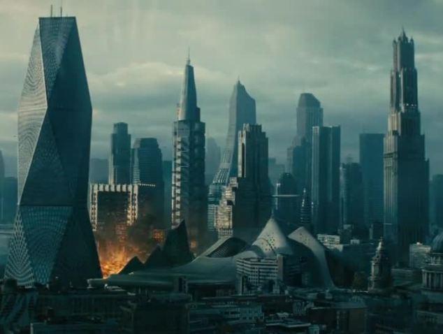 Terrorist of the future: Spiteful villain John Harrison is responsible for a bombing in London
