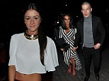 Dressed for summer: Corrie star Brooke Vincent flashes her tummy in cropped T-shirt as she parties with Chelsee Healey