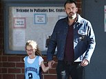 Daddy's little tomboy! Ben Affleck and daughter Violet go blue in matching outfits