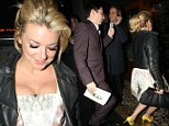 Sheridan Smith seen arriving at Groucho in Soho with male friend