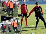 Luis Suarez two-footed tackle on a girl in Liverpool training - WATCH VIDEO