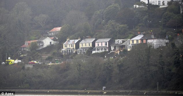 Scenic: But the beautiful landscape in Cornwall was the scene of tragedy today