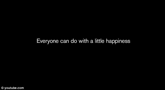 The advert then finishes with the words 'Everyone needs a little happiness' running across the screen