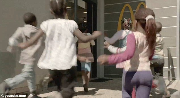 Firing line: McDonald's is coming under fire for using children from a real orphanage in a new advert