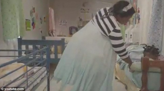 Controversial: The 60 second advert opens with a nurse waking the children up in the orphanage