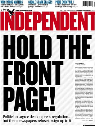 The Independent expressed support for the royal charter when most national newspapers didn't