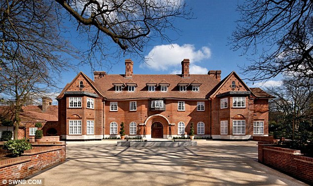Heath Hall on Bishops Avenue in North London has had its asking price slashed by £35m down to £65m
