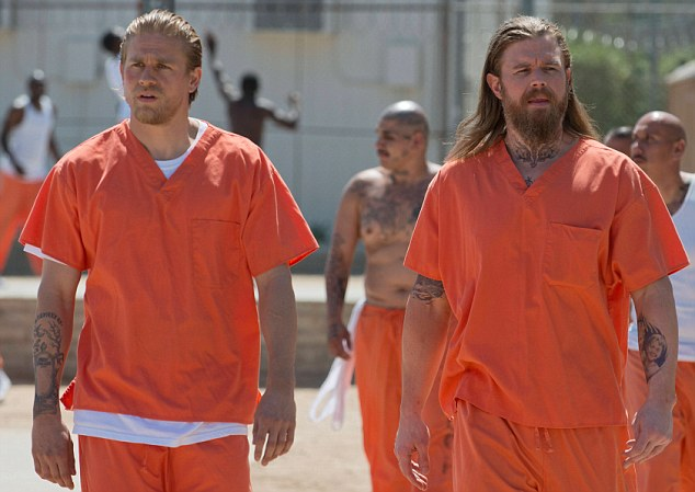 Coming to a sticky end: Opie made sure he ended up in prison to protect Jax but ended up being killed