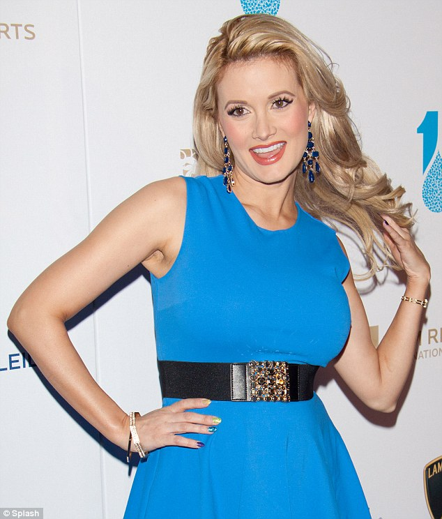 Back to her best: Holly Madison flaunted her post pregnancy body at a charity gala in Las Vegas on Friday