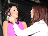 Come here! Lucy Mecklenburgh's friend pulls her in for an embrace