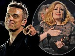 Two's company: Adele is set to record a duet with Robbie for his next album