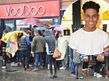 Desperate to be reem! TOWIE fans queue overnight for a first look at Joey Essex's designs as he opens his store Fusey