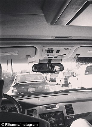 Traffic troubles! The singer shared her frustrations on Instagram with this picture captioned: 'This Chicago traffic is not working'