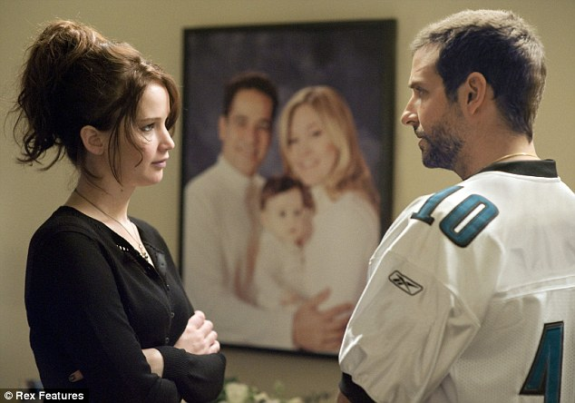 A good team: Jennifer and Bradley pictured in a still from Silver Linings Playbook, in 2012