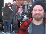 SPOILER ALERT! Back from the dead! Son's Of Anarchy star Ryan Hurst meets up with old castmates Charlie Hunnam and Mark Boone Jr