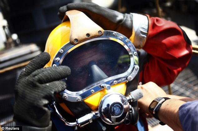 He makes four dives a month on average and can be submerged for about 30 minutes to six hours depending on the work needed