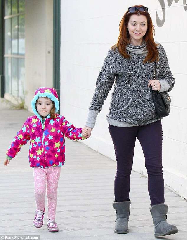 Sunday is their special day! Alyson Hannigan took her mini-me daughter Satyana for a spot of pre-birthday shopping in Los Angeles Friday