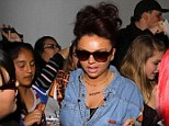 Swamped: Jesy Nelson, 21, armed herself with a pen as she handed out her autograph