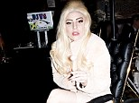 Throne on wheels: Only the most extravagant mobility aid would do when Lady Gaga found herself in need of a wheelchair