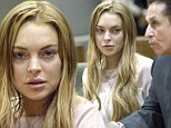 Actress Lindsay Lohan and attorney Mark Heller at a hearing in Los Angeles Superior Court on Monday, March 18