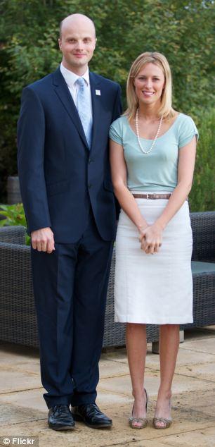 £65,000 helper: Northants PCC Adam Simmonds with Kathryn Buckle