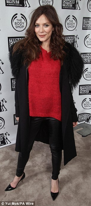 Ready to rock out: Actress Anna dressed to impress, while Damien Hirst was also at the bash on Saturday evening