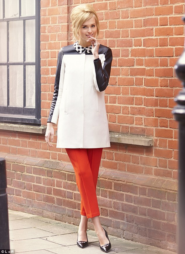 Top, £99, and trousers, £325, Fenwick, 020 7629 9161, Coat with leather sleeves, £89.99, zara.com, Shoes, £168, lucychoilondon.com