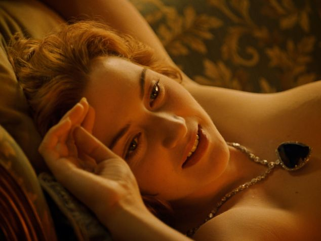 Kate Winslet in Titanic. Romantic plotlines feature less in modern films as they are more likely to incur R-rating