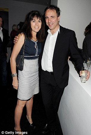 Targeted online: Anthony Horowitz received abusive comments, pictured with his wife Jill Green