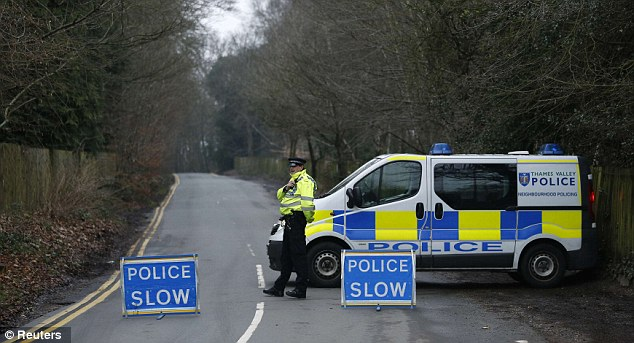 Officers specially trained in nuclear materials are searching the house where the oligarch was found dead