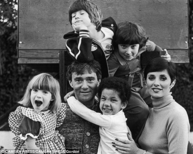 The late Vidal Sassoon who died last May pictured with his family, including adopted son David in his arms