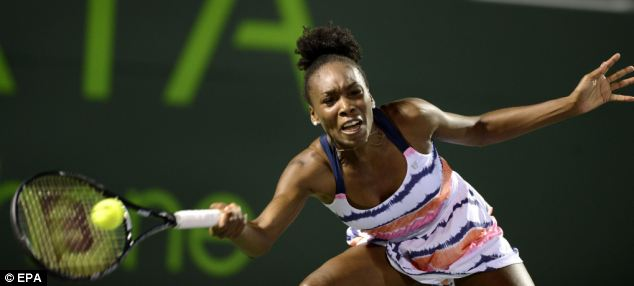 Injured: Serena's sister Venus Williams was forced to pull out of the tournament with a back injury