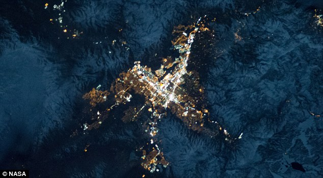 The biggest little city in the word: Reno, nestled in the foothills of the Sierra Nevada, as seen from the International Space Station
