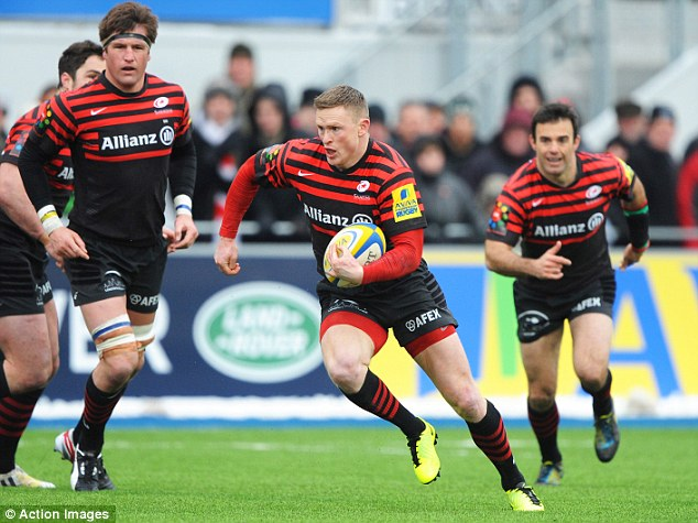 Escaped trouble: Chris Ashton (centre) was sin-binned for his high tackle on Maurie Fa'asavalu