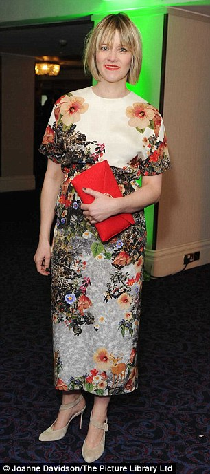 Frocks: Alexandra Roach mingled inside with Edith Bowman, who looked delighted to be in the glitzy crowd