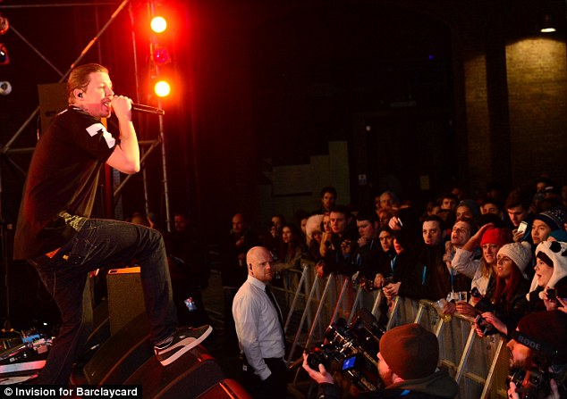 Crowd pleaser: professor Green stunned hundreds of fans who had turned up to the gig which celebrated Barclaycard Contactless being available on TFL buses across London