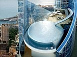 A real millionaire's playground: The �0million penthouse whose infinity pool has its own SLIDE attached