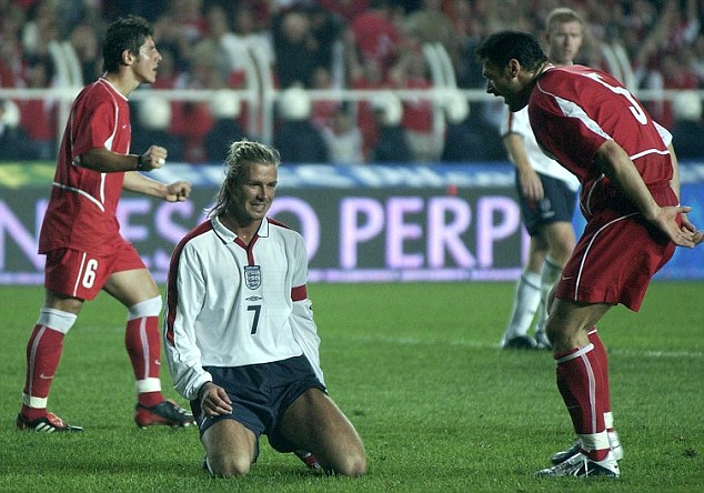 Controversial: Alpay taunted England captain David Beckham over his missed penalty