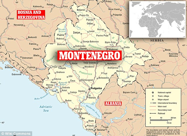 Montenegro on the map