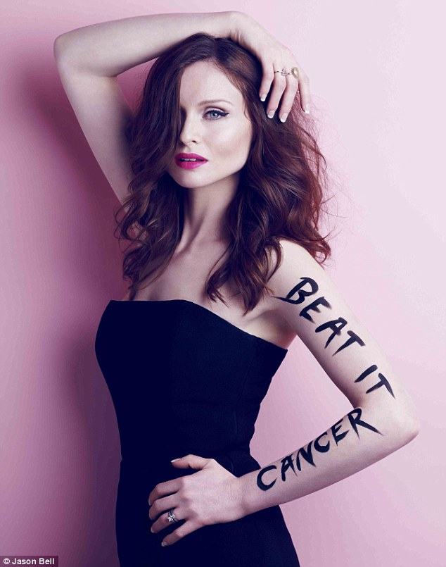 Beat it: Sophie Ellis-Bextor tells cancer where to go, to encourage women from across the UK to sign up to Cancer Research UK's Race for Life