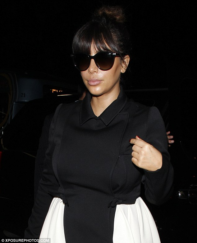 Working girl: Kim is flying to New York where she is making two television appearances on Tuesday