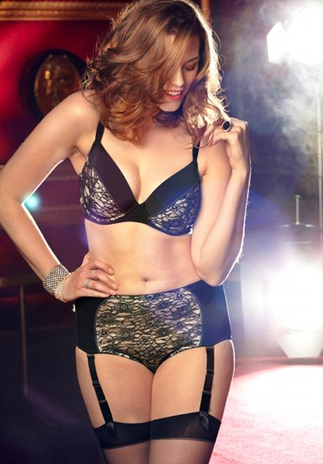 Lace Bombshell Bra, £30, in sizes 34A - 46DD and Lace Bombshell high waisted briefs, £16, available in sizes 12 - 32