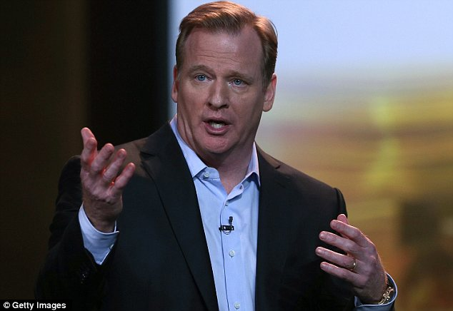 Holding firm: NFL Commissioner Roger Goodell said asking potential players to reveal their sexual orientation is 'unacceptable'