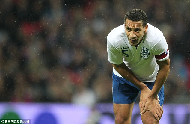 Withdrawal: Rio Ferdinand pulled out of the England squad to maintain his programme of treatment for back problems