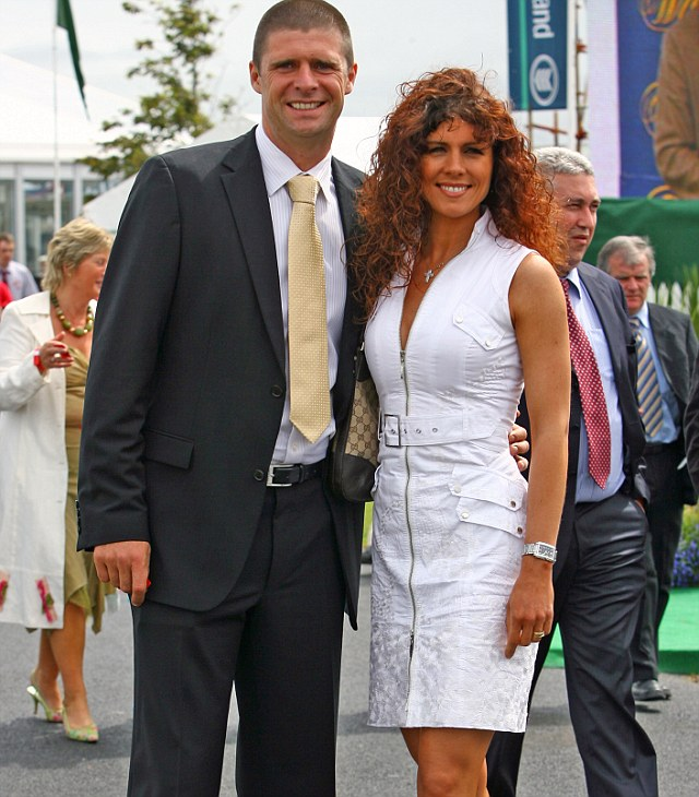 Gillian Quinn, seen here with her ex husband Niall Quinn, warns other WAGs that most footballer retire at 35, and the money will dry up