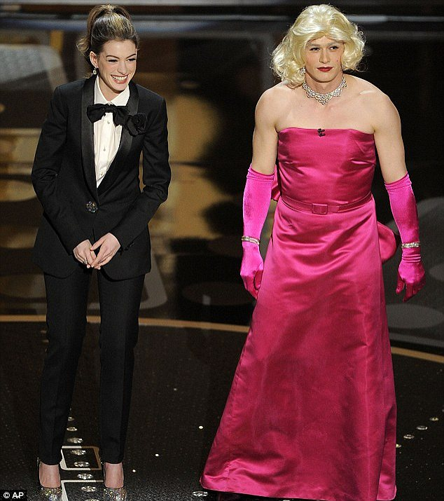 Panned: Anne and James received harsh criticism from viewers after hosting the 2011 Oscars